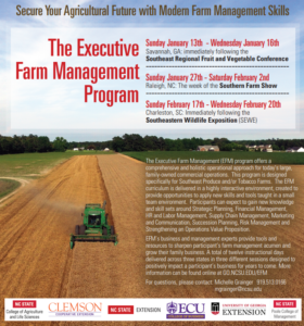 Cover photo for EFM Registration Extended Due to Hurricanes Florence and Michael