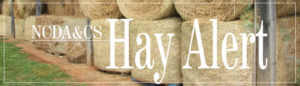 Hay Alert Banner on NCDA website