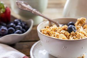 cereal and fruit