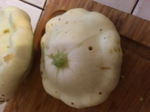 squash with holes