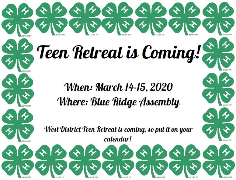 Teen Retreat is Coming!