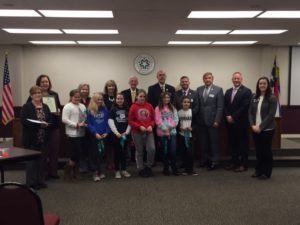 Club and school board members pictured