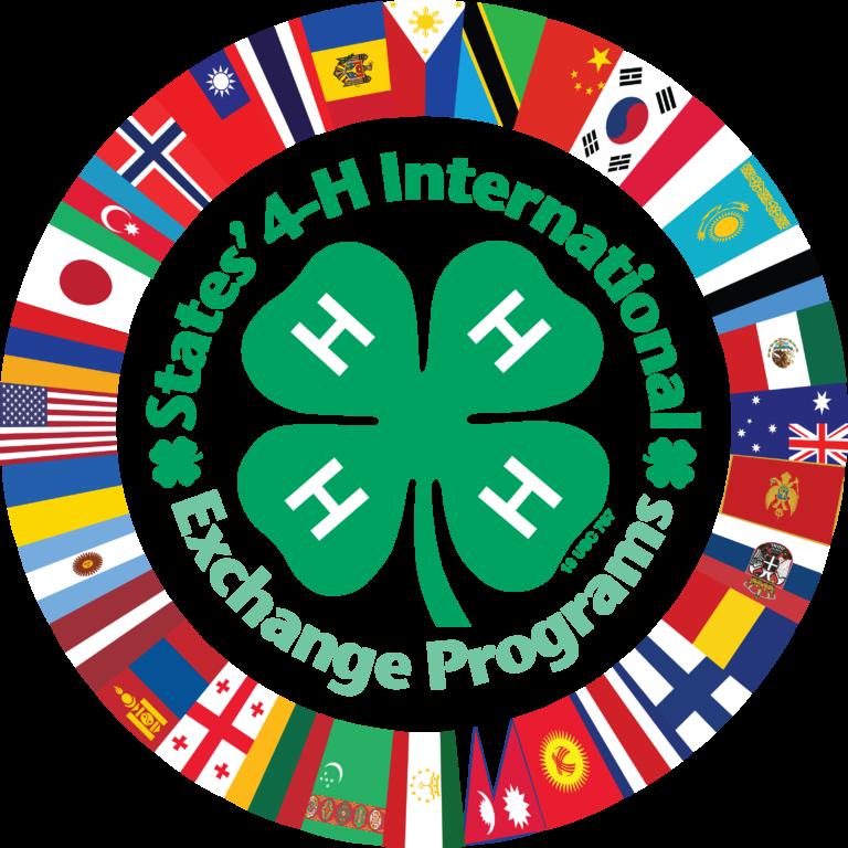 4-H emblem with States' International logo