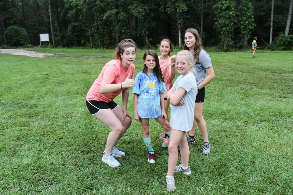 group of girls at camp