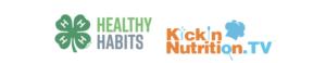 4-H Healthy Habits and KickinNutrition.TV logos