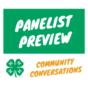 Panelist preview for Community Conversations event