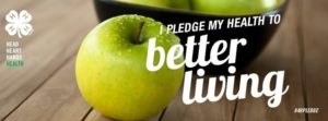 I pledge my health to better living image with apple