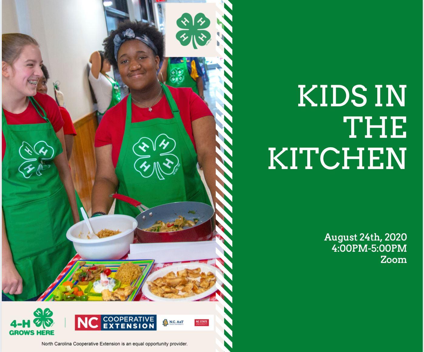 4-H teens kids in the kitchen