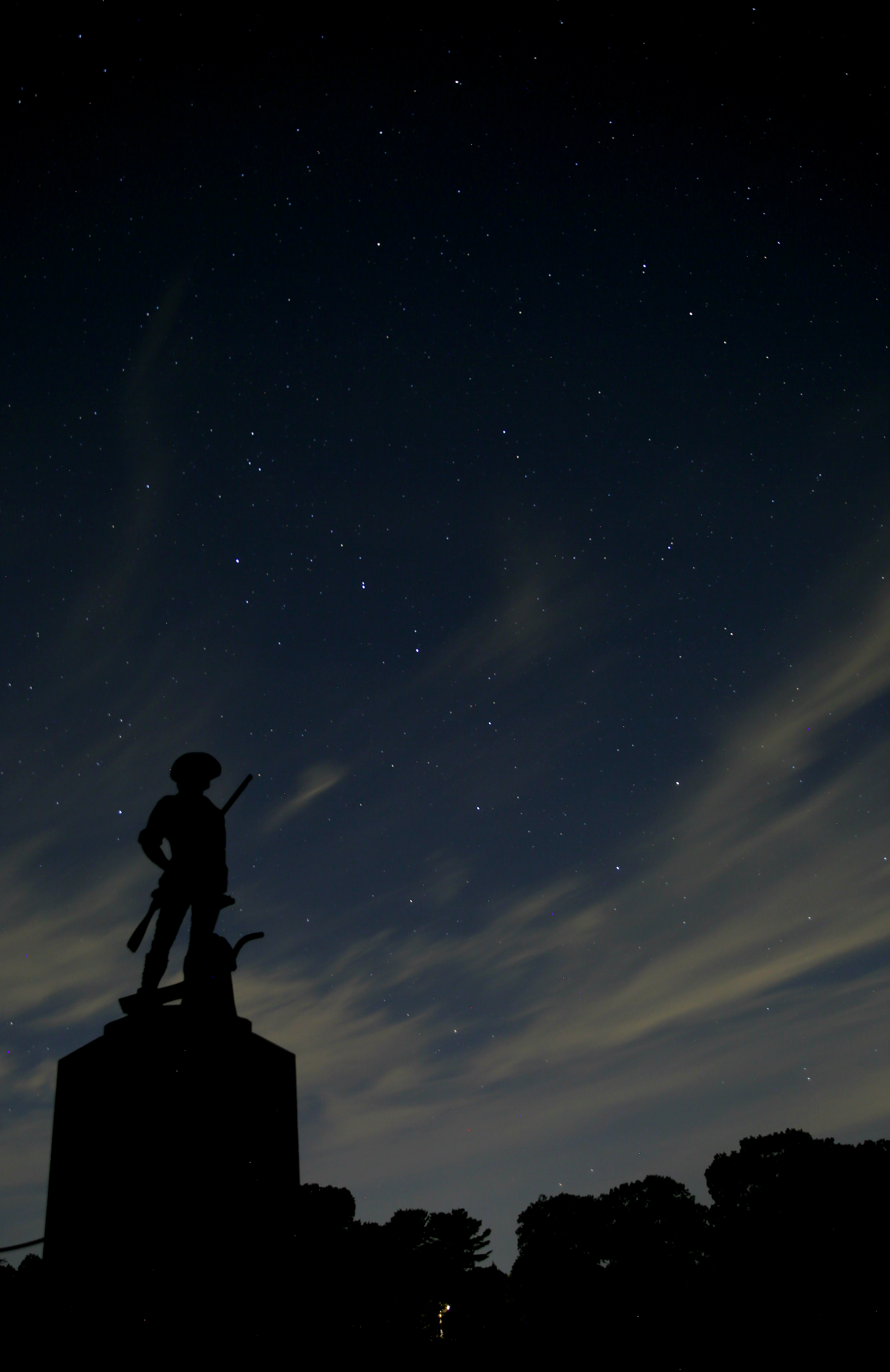 (Courtesy photo from Kristin Vinduska): Kristin Vinduska, a ranger at Minute Man National Historical Park in Massachusetts, shows off the park's nighttime sky.