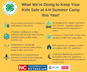4-H Camp 2021 - COVID Preparedness