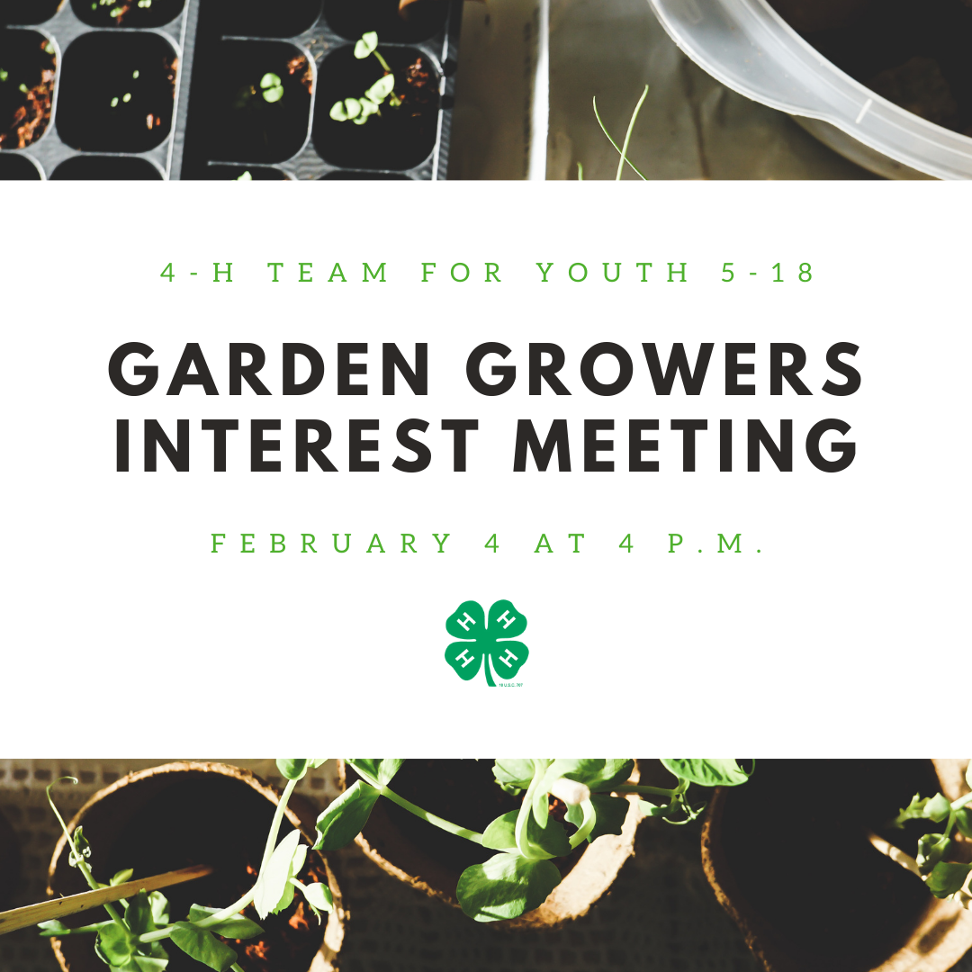 Garden Growers Interest Meeting
