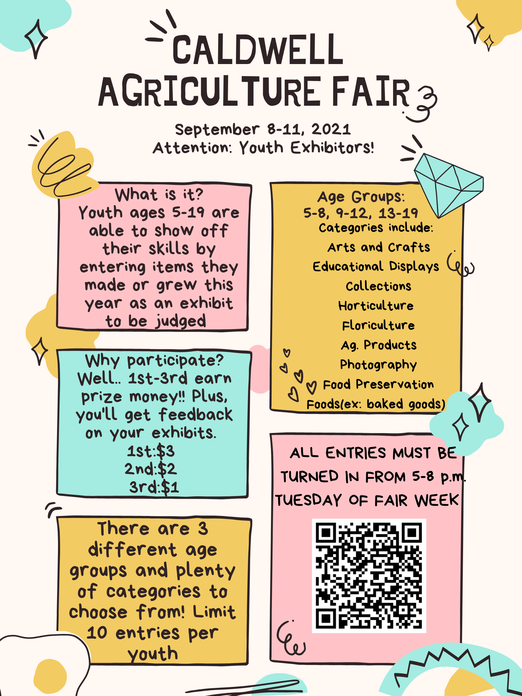 Caldwell Agriculture Fair is September 8-11.