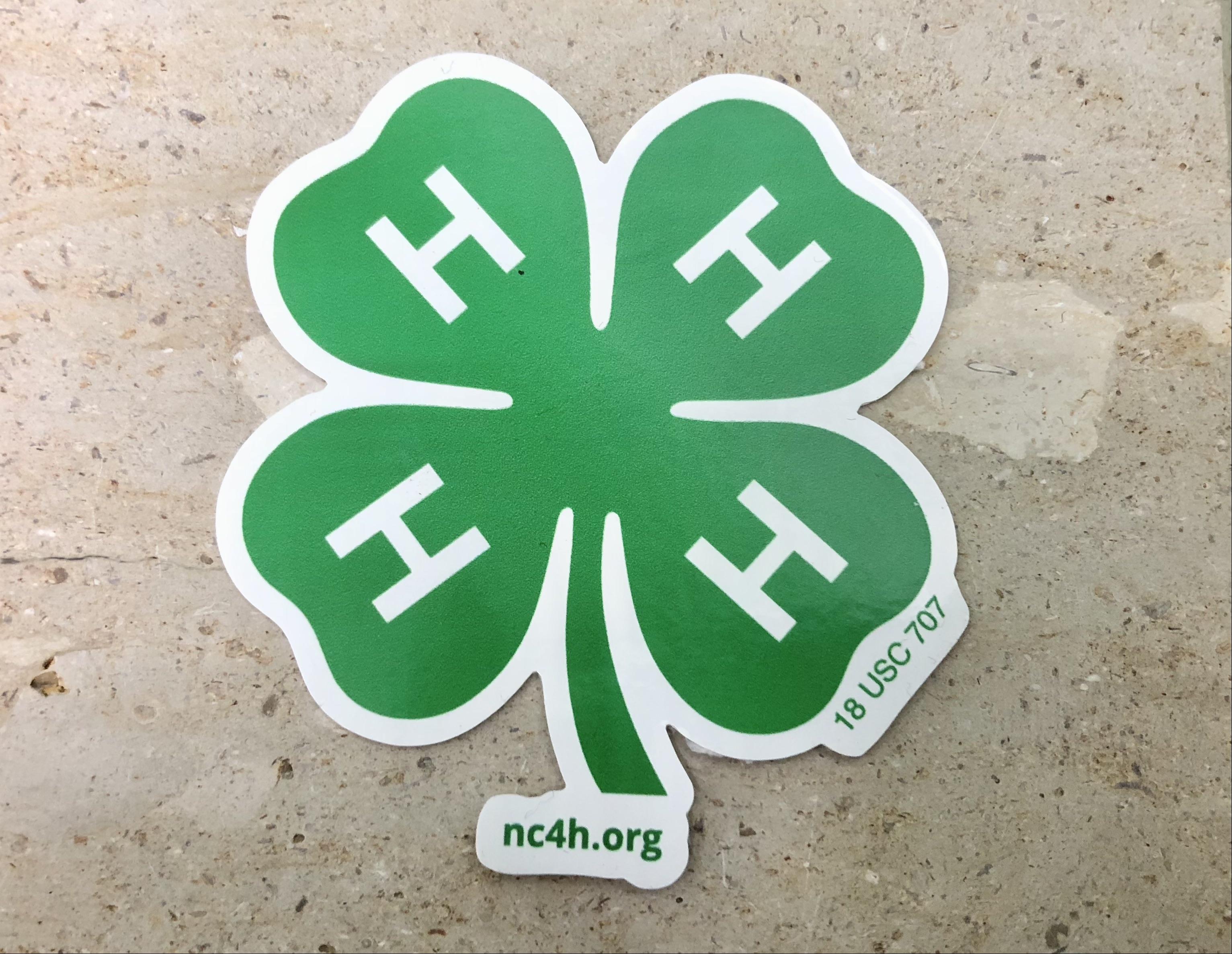 4-H emblem sticker