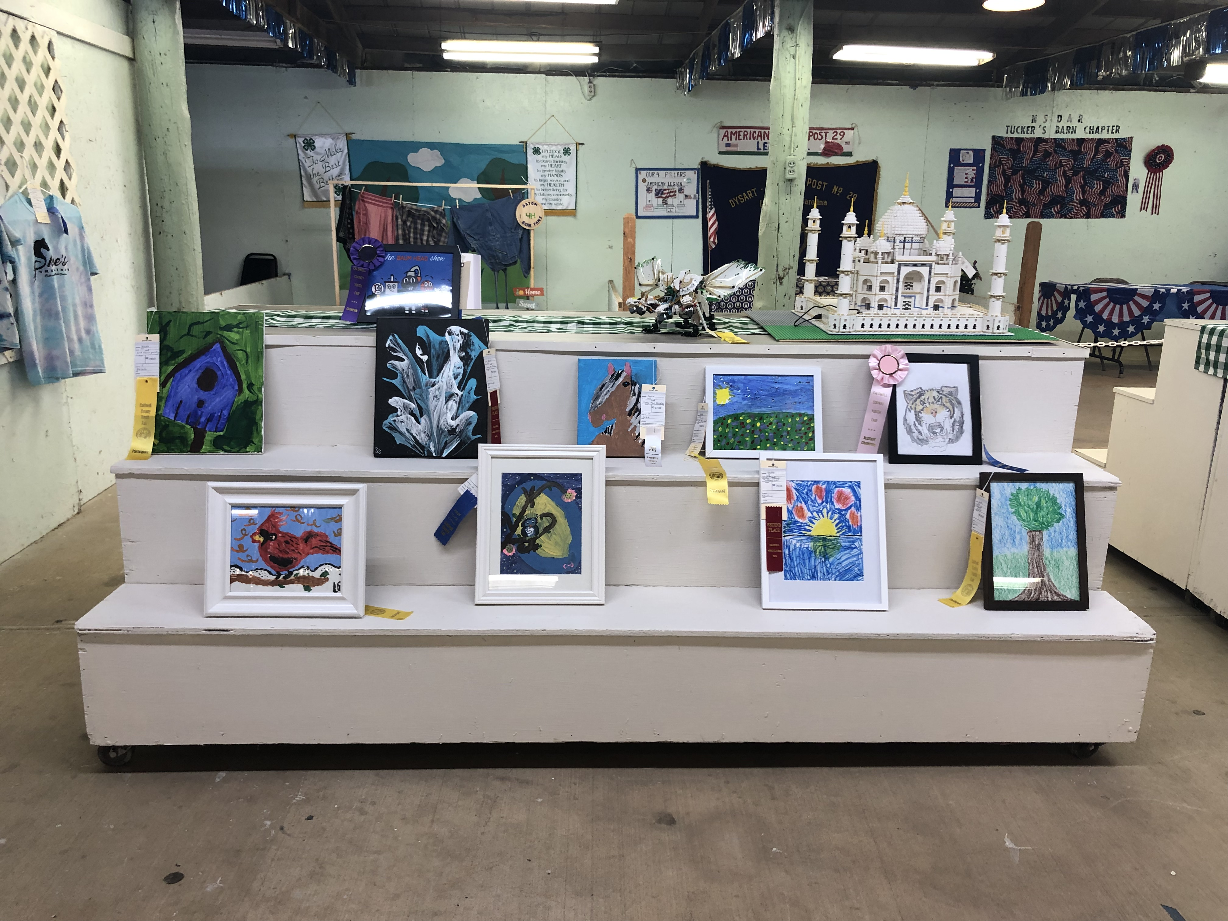At the fair, youth exhibited works of art including paintings, drawings and ones digitally produced.